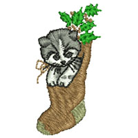 Kitten stock embroidery design